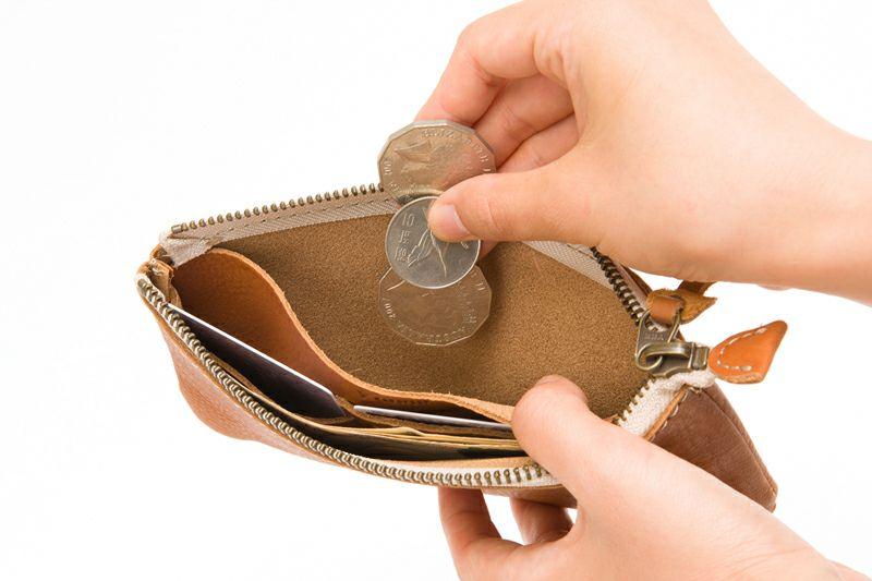 幅広のコイン入れ